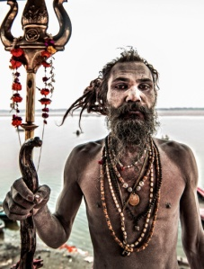 Picture of Aghori man taken by Italian photographer Cristiano Ostinelli.