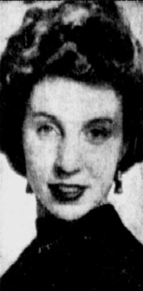 Newspaper picture of Carolyn Wasilewski. Image source: https://news.google.com/newspapers?nid=1734&dat=19541111&id=t1EqAAAAIBAJ&sjid=21AEAAAAIBAJ&pg=6985,778881&hl=en
