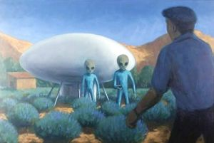 Picture by Michael Buhler of the Maurice Masse UFO encounter.