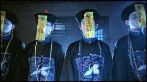 Another scene from Mr. Vampire. These jiangshi were put to sleep by a Daoist priest.