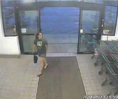 Surveillance footage of Amy walking into a store a few hours before her death. (Image credit here.)