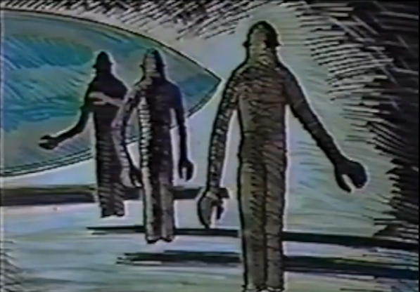 Drawing of the Pascagoula aliens. (Image source/credit here.)